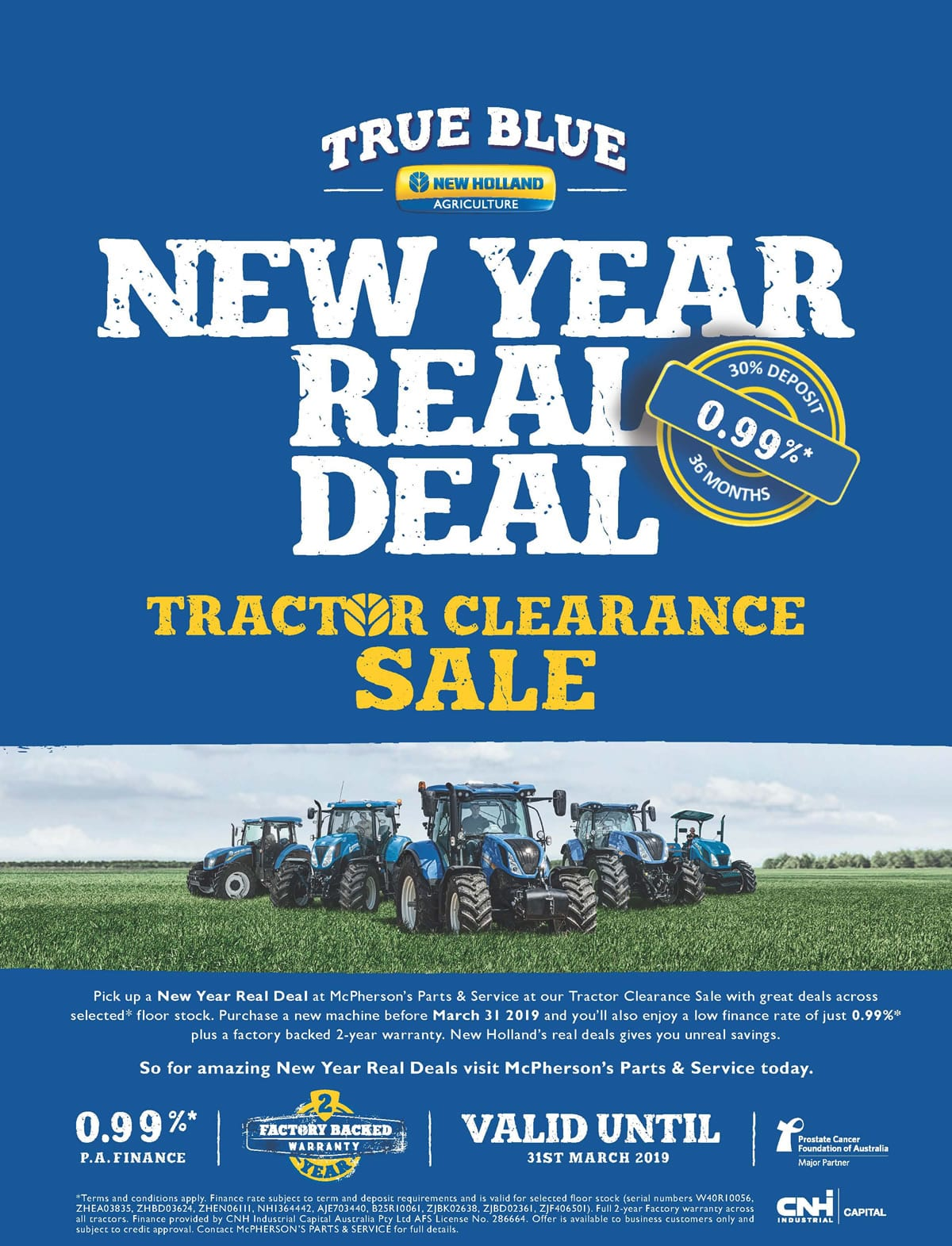 Real Deal Tractor Clearance Sale on now!