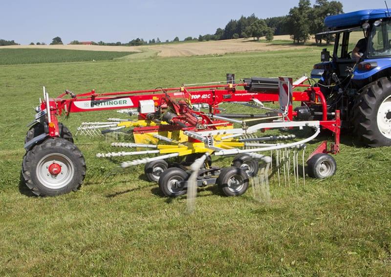 Pottinger TOP-C-twin-rotor-centre-swath-rakes
